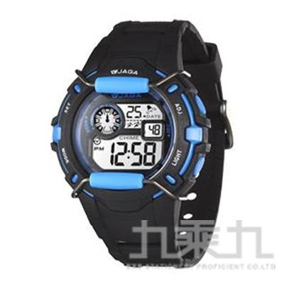 捷卡 冷光電子女錶(黑藍) M872-AE