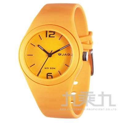 捷卡石英錶-AQ911-I(橙)