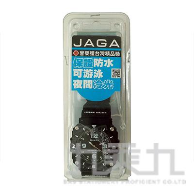 捷卡冷光石英男錶-AQ934-A(黑)男