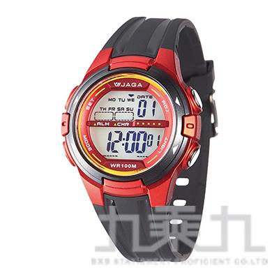 JAGA冷光女用電子錶-M1140-AGG