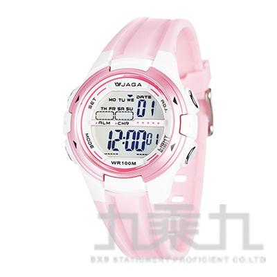 JAGA冷光女用電子錶-M1140-G