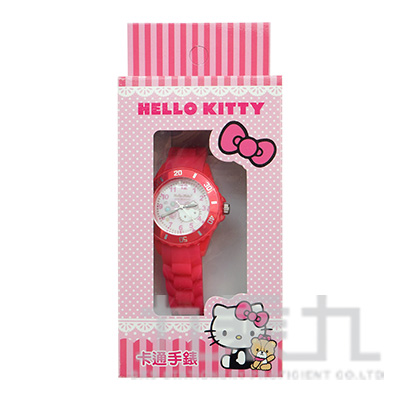 Kitty貓卡通石英錶(桃紅白) S7-1001K