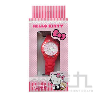 Hello Kitty 貓卡通石英錶(桃紅粉) S7-1004K