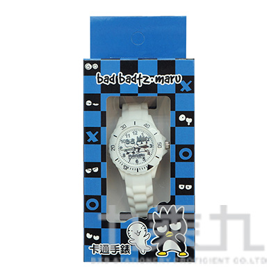 酷企鵝卡通石英錶(白) S7-1037B