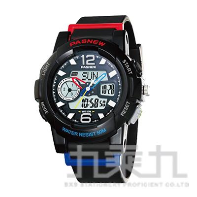 百聖牛電子指針錶/黑紅 PSE-486-N4