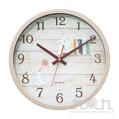 12吋靜音仿木紋時鐘 W-9167