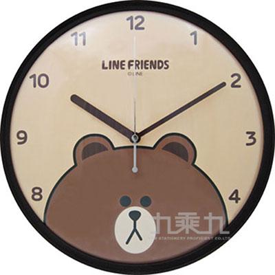 LINE FRIENDS 熊大個性掃秒掛鐘JM-W569LE-BR