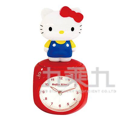 Hello Kitty公仔LED多功能音樂鬧鐘-藍 JM-F599KT-BL