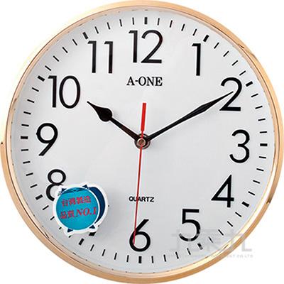 TG-0313電鍍亮框立體字掛鐘