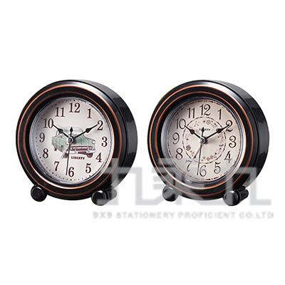 LIBERTY 利百代 中型復古圓造型靜音鬧鐘 LB-2004