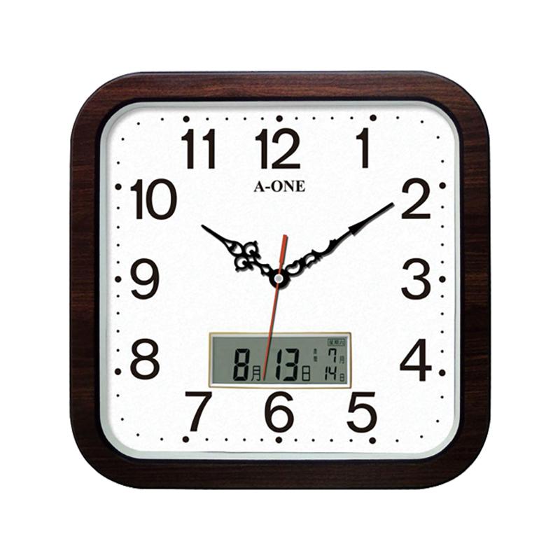 A-ONE 方形LED石紋時鐘