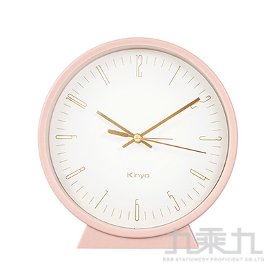 KINYO三合一桌掛鬧鐘-粉 ACK-7115PI