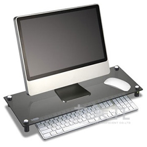 YADI 空間大師-強化玻璃液晶鍵盤收納架OA-LMG02