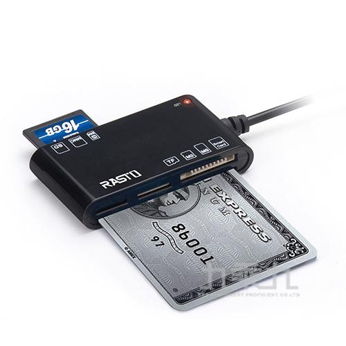 RASTO RT3 晶片ATM+五合一記憶卡複合讀卡機