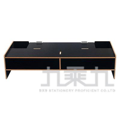加厚基本電腦螢幕增高架-黑 D5088-B