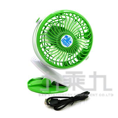 4吋夾式/立式兩用360度旋轉風扇-綠色 USB-FAN-AB11