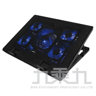 eSENSE E-C11冷光五風扇筆電散熱墊