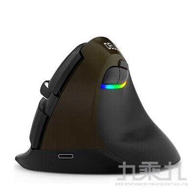 DeLUX M618mini雙模垂直靜音光學滑鼠-經典黑