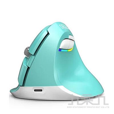 DeLUX M618mini雙模垂直靜音光學滑鼠-綠色