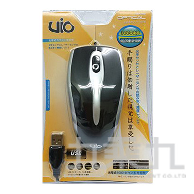 VIO-USB光學鼠(黑) MO09207BK
