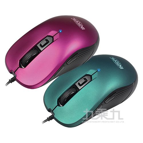 INTOPIC飛碟光學滑鼠 MS-095-GN/PUR(顏色隨機出貨)
