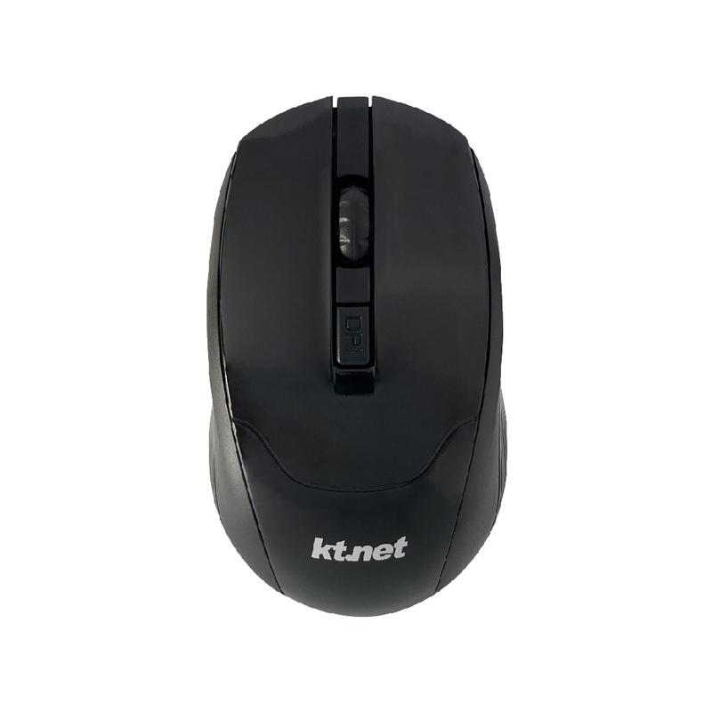 Kt.net R9 2.4G無線4D光學滑鼠1600DPI 黑色