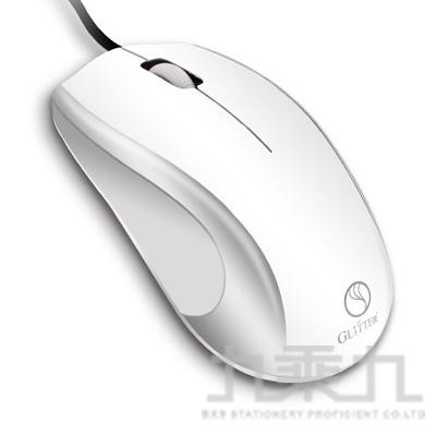 三鍵式USB光學滑鼠(白) GT-825