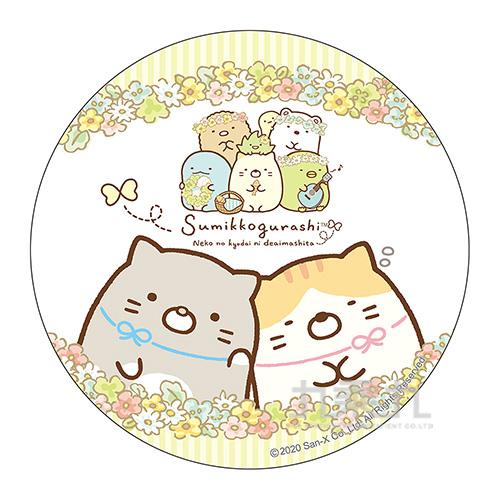 小夥伴圓形滑鼠墊-花田