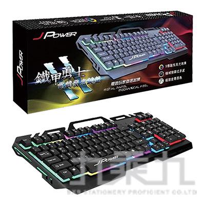 鐵甲勇士II代RGB背光電競鍵盤-鈦黑灰 JK-889