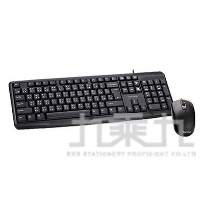 Esense K2500 USB滑鼠鍵盤組 13-EKM250BK