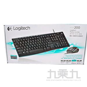 羅技 MK200 滑鼠鍵盤組/US