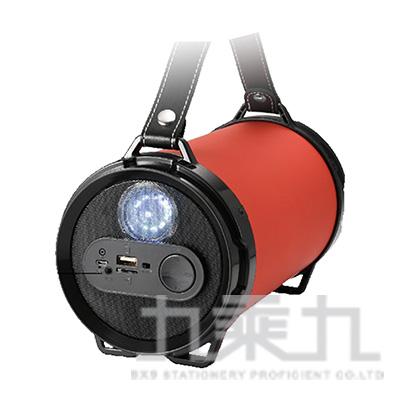 肩背型戶外音響LED版5吋雷神-紅 JP-SUB-01