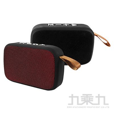 KINYO BTS-697藍牙讀卡喇叭(黑/紅)