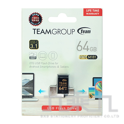 Team USB3.1 TYPE-C OTG隨身碟-64GB