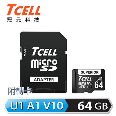 TCELL SUPERIOR MicroSDXC UHS-I(A1) V10 100MB 64GB
