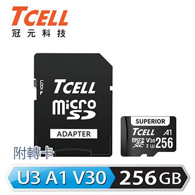 TCELL SUPERIOR MicroSDXC (A1)U3 V30 100MB 256GB