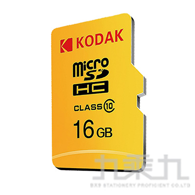 Kodak MicroSD C10 16G記憶卡-含轉卡 M16GHC10CKWA