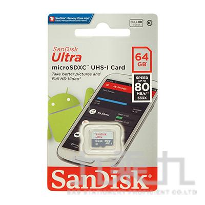 SanDisk Ultra Micro SDHC 64G/80MB C10 U1白