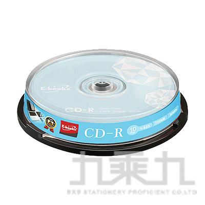 E-books 晶鑽版 52X CD-R 10片桶 E-MDA045