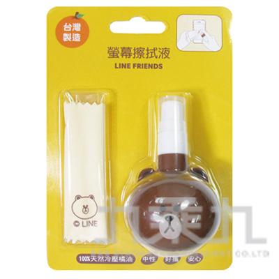 99#LINE熊大造型螢幕擦拭液 MT-163BR