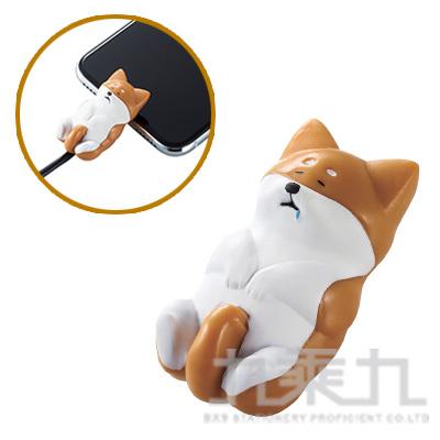 ELECOM Lightning充電線保護套休眠動物-柴犬