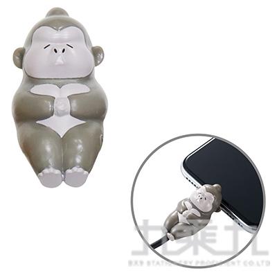 ELECOM Lightning充電線保護套休眠動物-猩猩