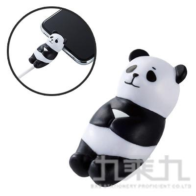 ELECOM Lightning充電線保護套休眠動物-熊貓