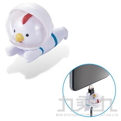 ELECOM Lightning充電線保護套太空動物-公雞