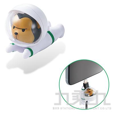 ELECOM Lightning充電線保護套太空動物-猩猩