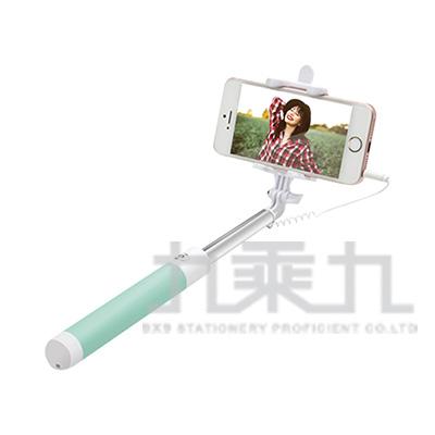 E-books N43 馬卡龍鏡面線控自拍桿-綠 E-IPB115GN
