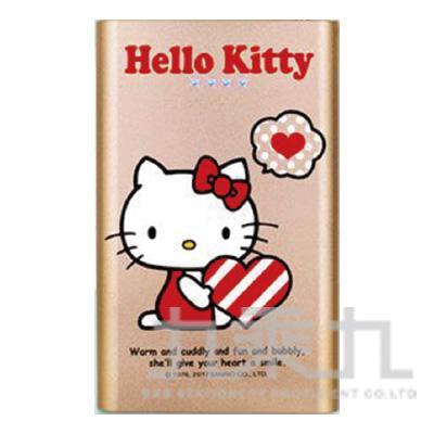 Hello Kitty 12000PLUS歡樂版行動電源-愛心金