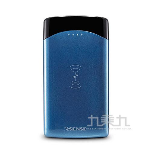 Esense QI無線充電行動電源 37-APK100BL