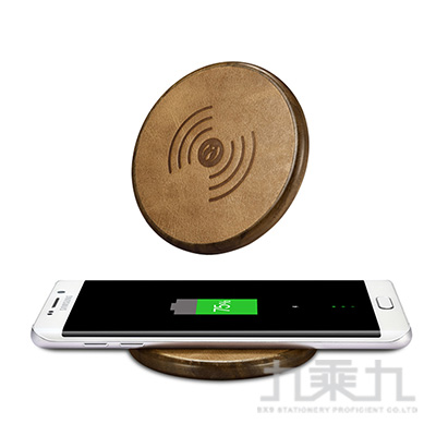 ICARER神州系列NW170F真皮木紋無線充電器-深棕