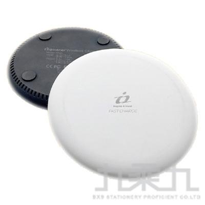 iSquarer 雙規晶片兩用無線快充盤(黑) WG126